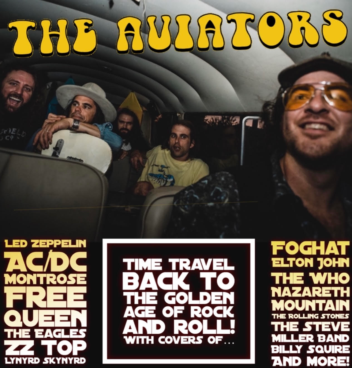 The Aviators: A Tribute to The Golden Age of Rock & Roll, Attack of the Rising, Bonnie Brae, Tara Alouise, Airam Diaz