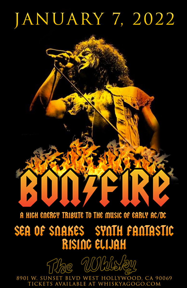 BONFIRE (A tribute to AC/DC), Sea of Snakes, Synth Fantastic, Rising Elijah