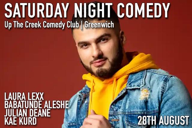 Saturday Night Comedy Sat 28 Aug