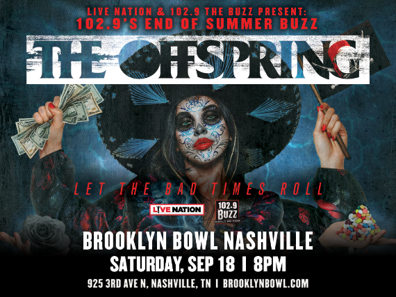 More Info for 102.9's End of Summer BUZZ - ft. The Offspring