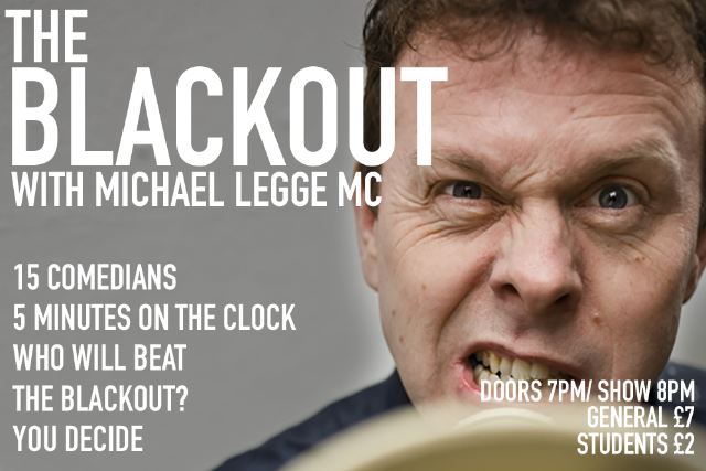 The Blackout Comedy Night Thu 23 Sep
