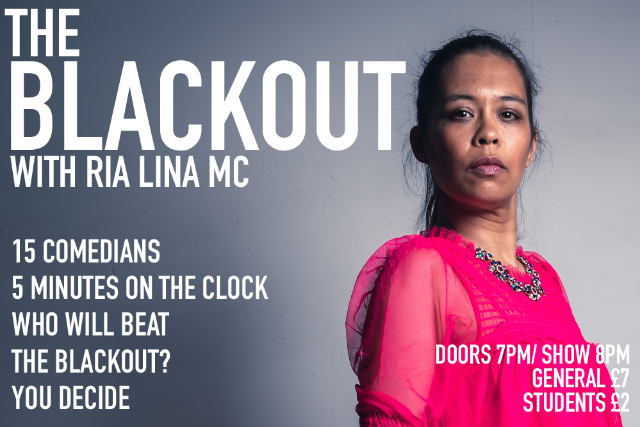 The Blackout Comedy Night Thu 30 Sep