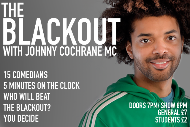 The Blackout Comedy Night Thu 21 Oct