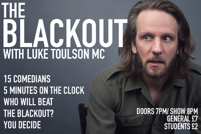 The Blackout Comedy Night Thu 28 Oct