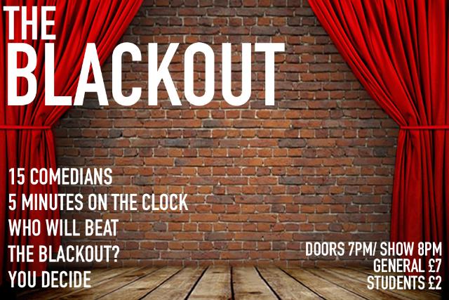 The Blackout Comedy Night Thu 23 Dec