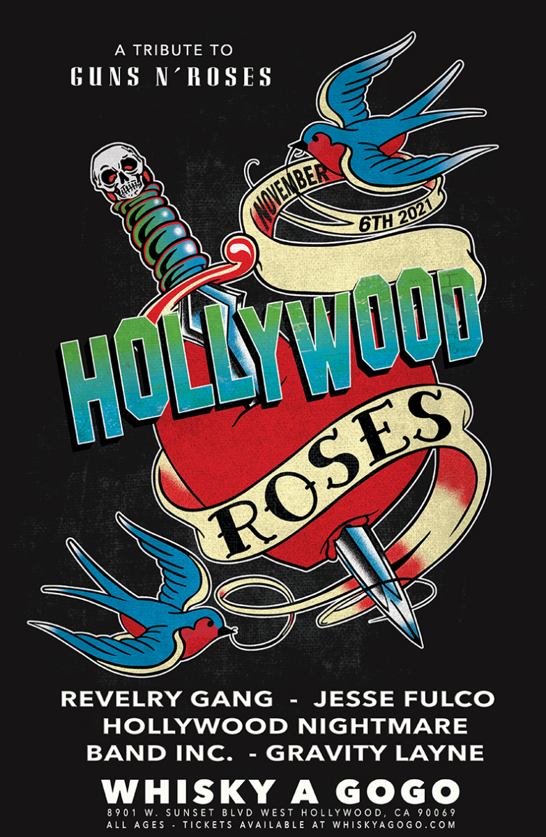 Hollywood Roses (A Tribute to Guns N Roses), Revelry Gang, Jesse Fulco, Hollywood Nightmare, Band Inc.