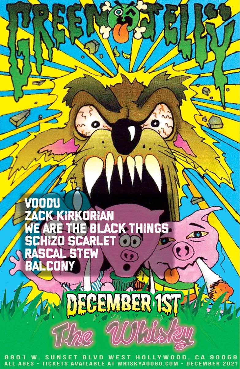 Green Jelly, Voodu, Zack Kirkorian, We Are The Black Things, Schizo Scarlet