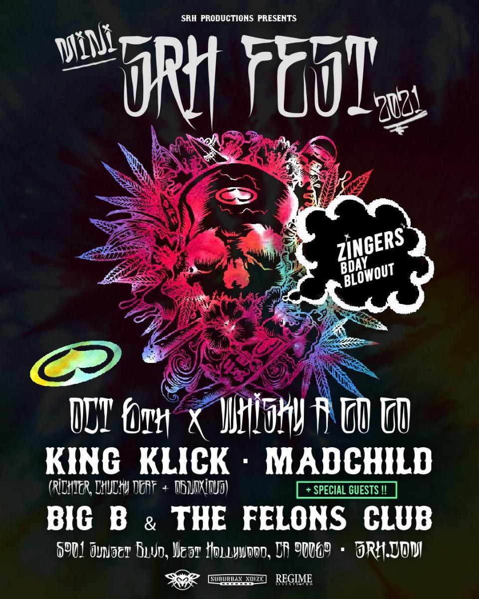 Mini SRH Fest featuring King Klick, Madchild, Big B & The Felons club, plus more TBA