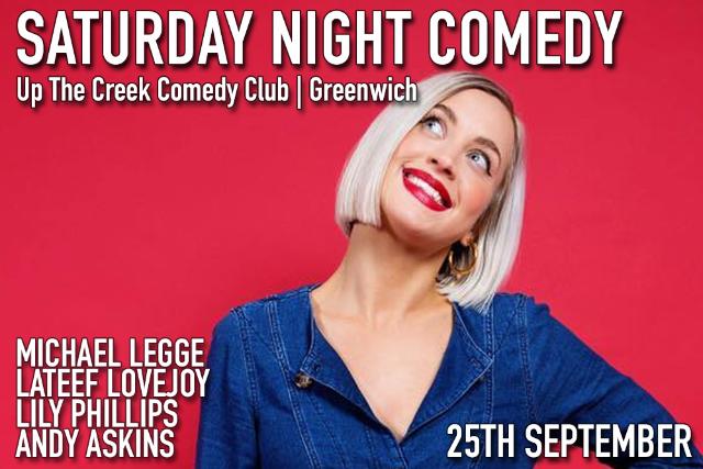 Saturday Night Comedy Sat 25 Sep