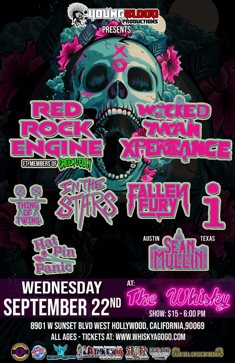 Red Rock Engine, Wicked Man Xperiance, Thing Of Twins, In The Stars, Fallen Fury, I , Hat Pin Panic, Sean Mullin