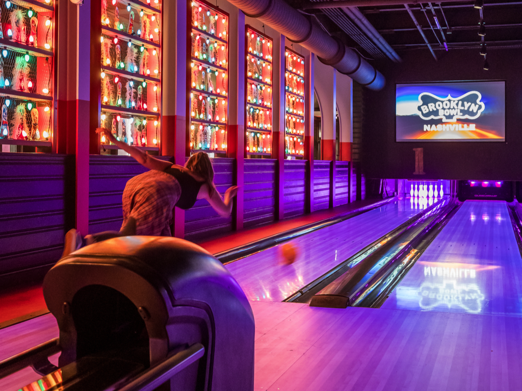 Blue October Bowling Lane for up to 8 People