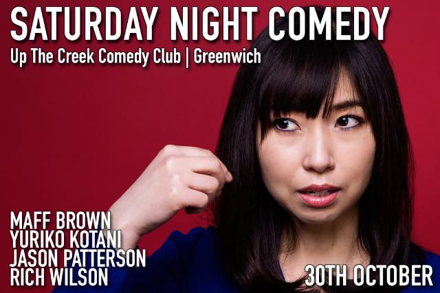 Saturday Night Comedy Sat 30 Oct